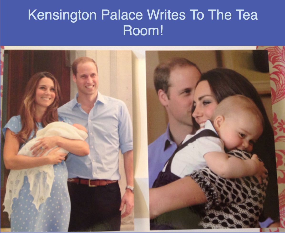 > August 18 th 2014 – Kensington Palace Writes To The Team Room!